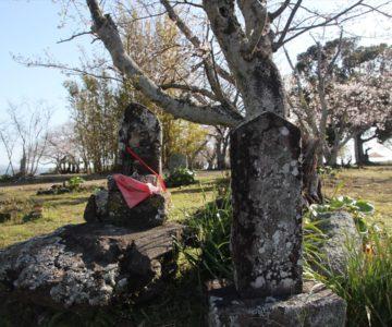 原城 石像と石碑