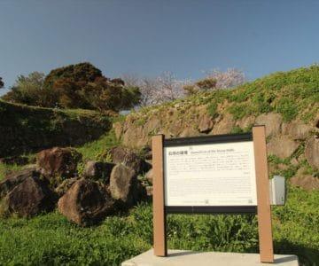 原城 石垣の破壊
