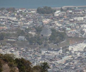 眉山南峰より島原城