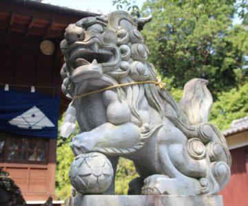 有明温泉神社 狛犬