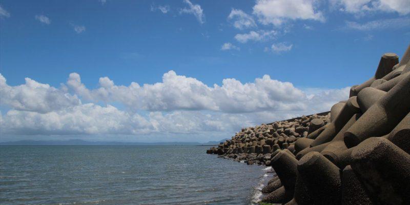 長浜海岸 消波ブロック