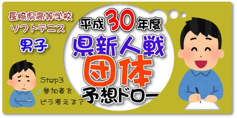 平成30年度県新人戦団体予想ドロー